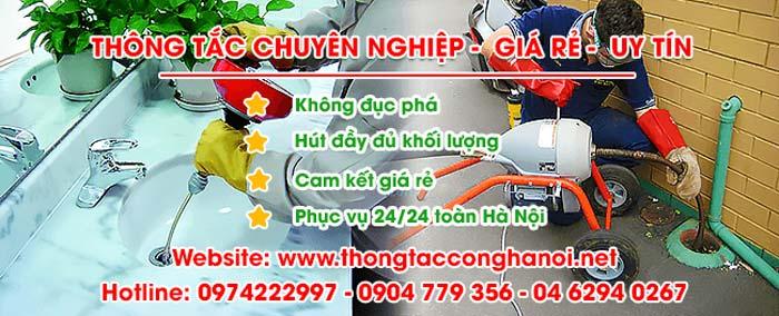 thông tắc cống tại Thanh Trì
