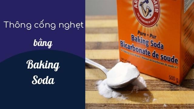 baking soda dùng để thông tắc cống