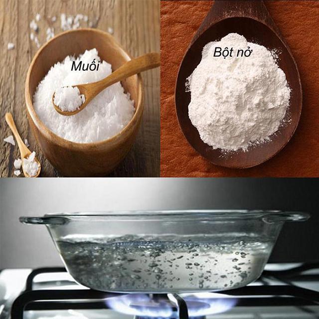 Thông tắc cống bằng backing soda và muối