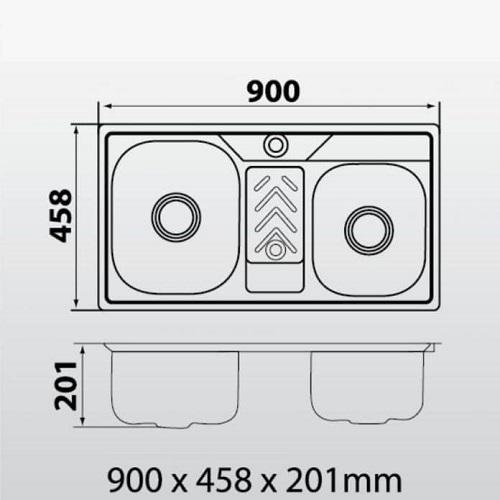 Kích thước bồn rửa chén