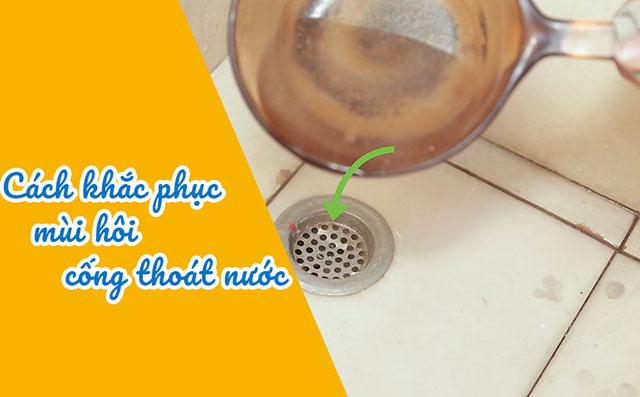 Xử lý mùi hôi cống thoát nước