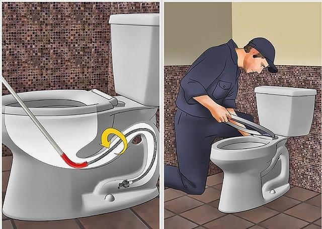 xử lý bồn cầu dội nước không chôi