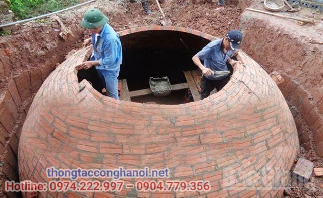 bể biogas bằng gạch