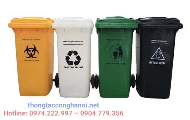 Quy đinh về màu sắc thùng đựng rác thải y tế